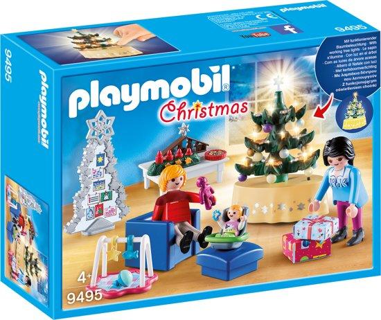 PLAYMOBIL Woonkamer in kerststijl - 9495