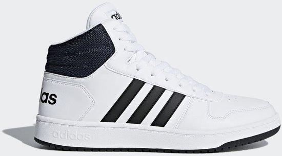bol.com   adidas Hoops 2.0 Mid Sneakers Heren - Wit