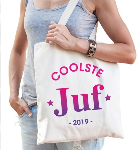 117d5b80312cd7 bol.com | Coolste juf 2019 katoenen tas - coolste juf 2019