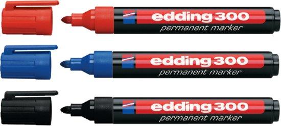 Edding Permanent Marker 300, Blister Met 2 + 1 Gratis