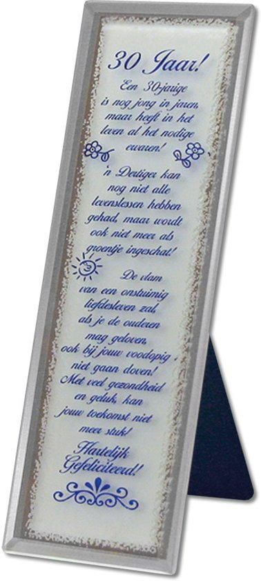 Verjaardag 30 Jaar Teksten.Decoratieve Spiegel Met Tekst Voor De 30 Jarige