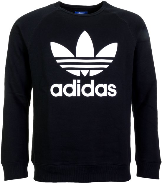 770e11149f0 adidas Trefoil Sweatshirt Heren Sporttrui - Maat L - Mannen - zwart/wit