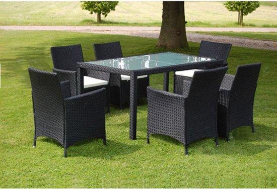 Bol vidaxl tuinset zwart stoelen en tafel