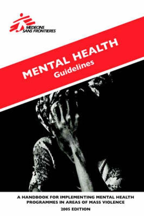 Mental Health Guidelines