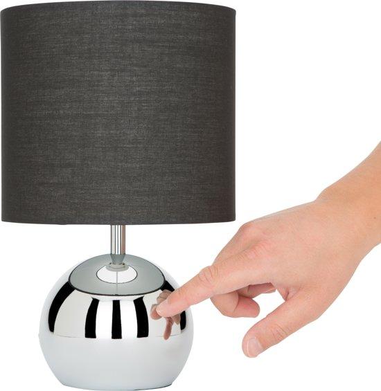 Ranex 6000.196 Noa - Tafellamp - zwarte kap touch- en dimfunctie