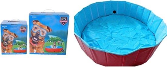 Hondenzwembad antislip rood / blauw 120x30 cm