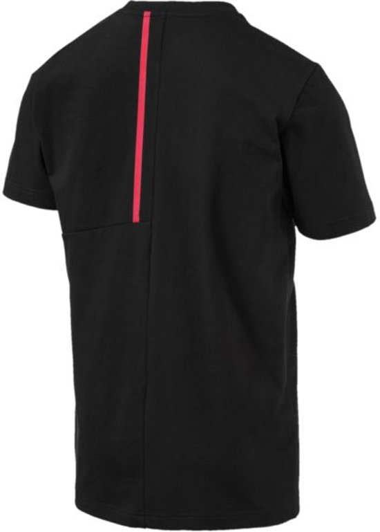 PUMA Ferrari Big Shield Tee Heren - Puma Black