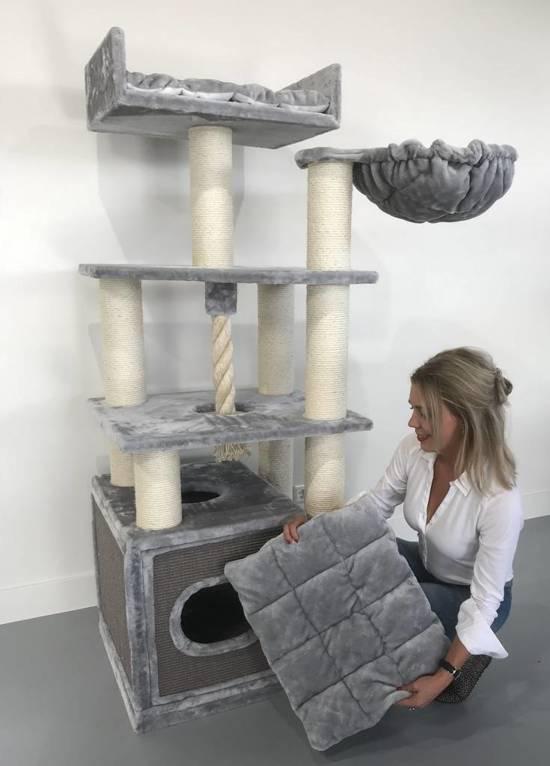 Krabpaal Cat Relax Light Grey voor grote katten