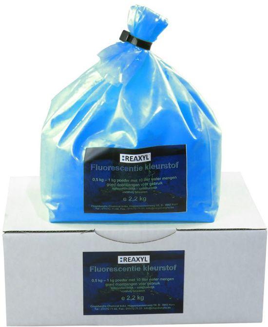 Reaxyl Fluorescentiekleurstof poeder 2,2 kg, blauw