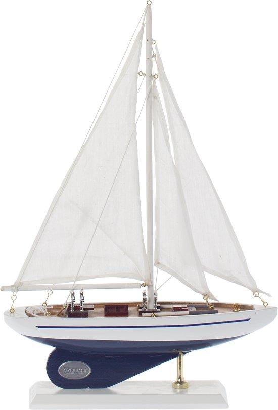 Riverdale Valley - Beeldje zeilboot - 25cm - blauw