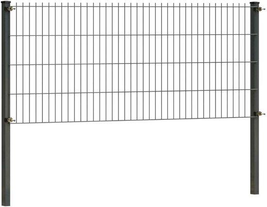 Dubbelstaafmat hekwerk 83 cm hoog | Antraciet | 14 meter lang