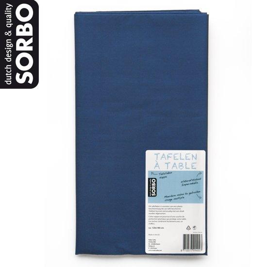 Sorbo Tafelkleed - 180 x 120 cm - Donkerblauw