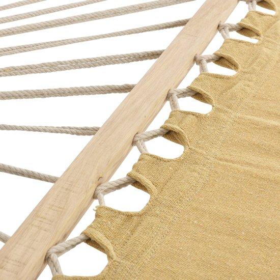 Katoenen hangmat met metalen standaard - beige