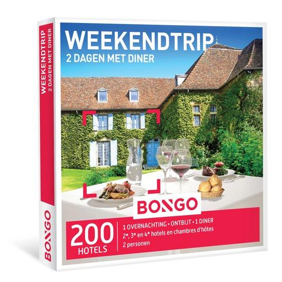 bongo weekendtrip 2 dagen met diner cadeaubon