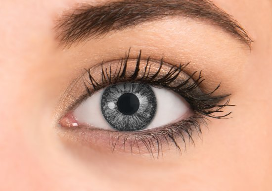 bol | pretty eyes kleurlenzen grijs -3,75 - 4 stuks - daglenzen