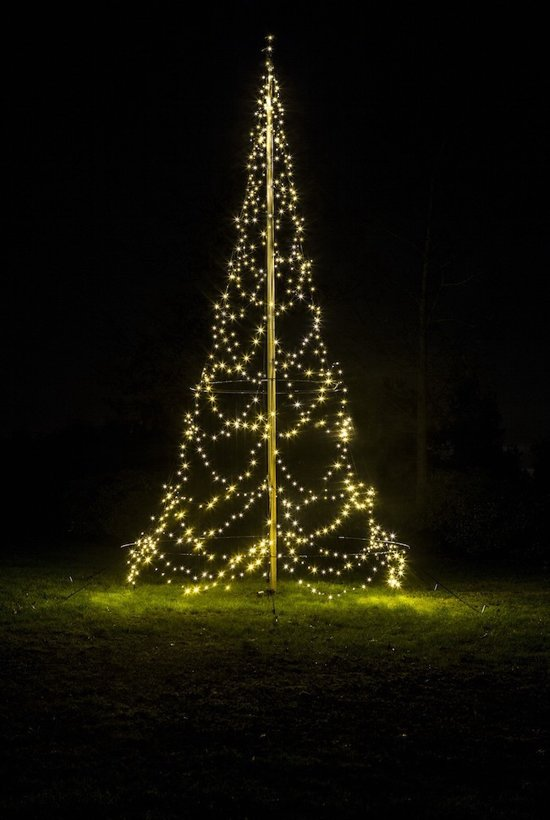 Fairybell 600cm 720led warm white vlaggenmast kerstverlichting - Fairybell led weihnachtsbaum ...