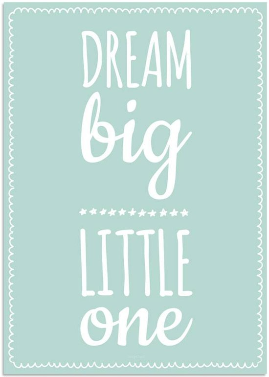 bol | kinderkamer poster - babykamer - decoratie - dream big, Deco ideeën