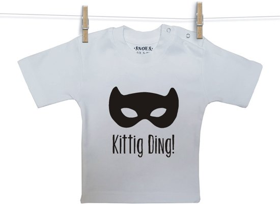 Baby Shirt wit korte mouw Snoes Kittig Ding 74/80