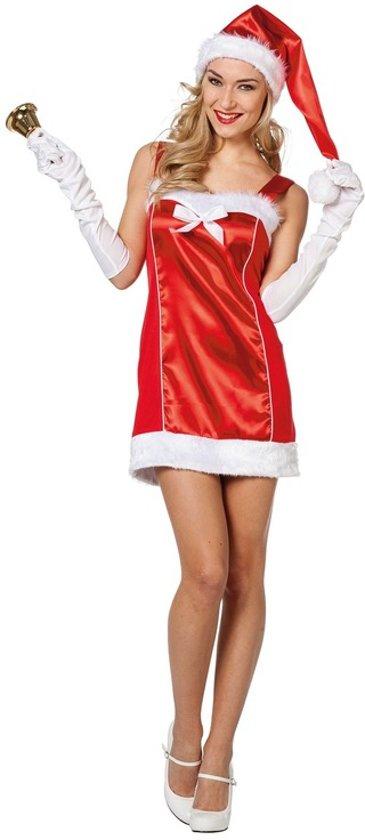 Rode Dames Jurk.Bol Com Rode Sexy Kerstvrouw Jurk Met Kerstmuts Voor Dames 36 S