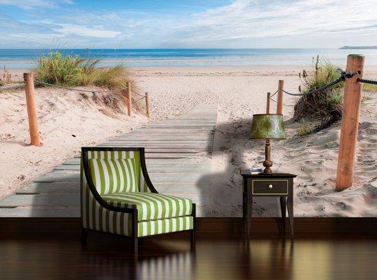 Fotobehang Strand Zee.Bol Com Fotobehang Strand Zee Blauw 152 5x104cm