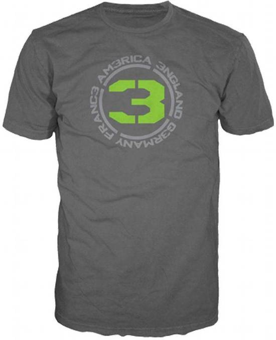 Merchandising CALL OF DUTY MW3 - T-Shirt Charcoal - COUNTRIES 3 (XXL)