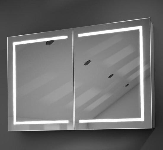bol.com | 90 cm brede badkamer spiegelkast met hoge lichtopbrengst ...
