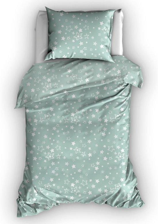 43e787607d1ad6 bol.com | Duimelot Dekbedovertrek Etoiles Misty Green-100 x 135 cm