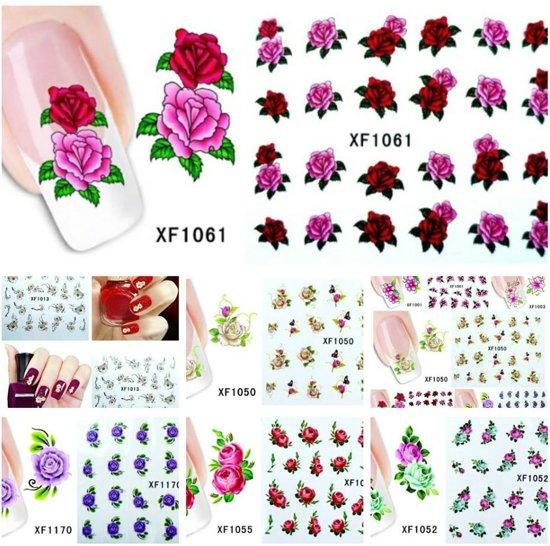 Bol Nail Art Stickers Bloemen Roosjes 10 Velletjes Nailart