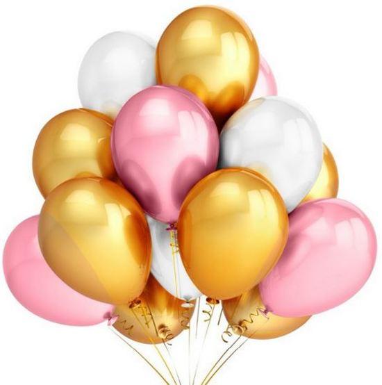 gouden en witte ballonnen