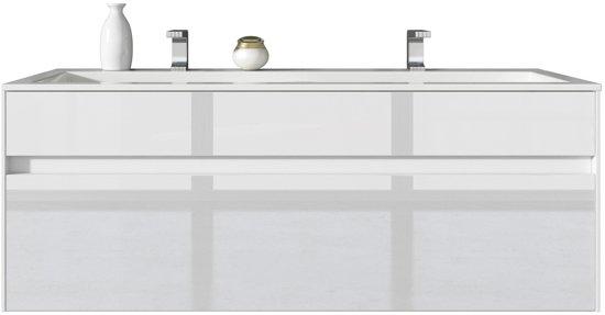 Wastafel Met Kast : Bol badplaats badkamermeubel lyon cm hoogglans wit kast