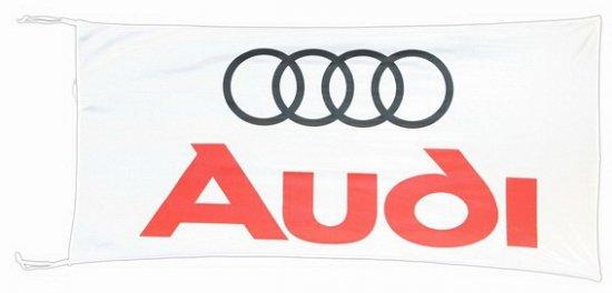 Audi vlag wit 150 x 75 cm
