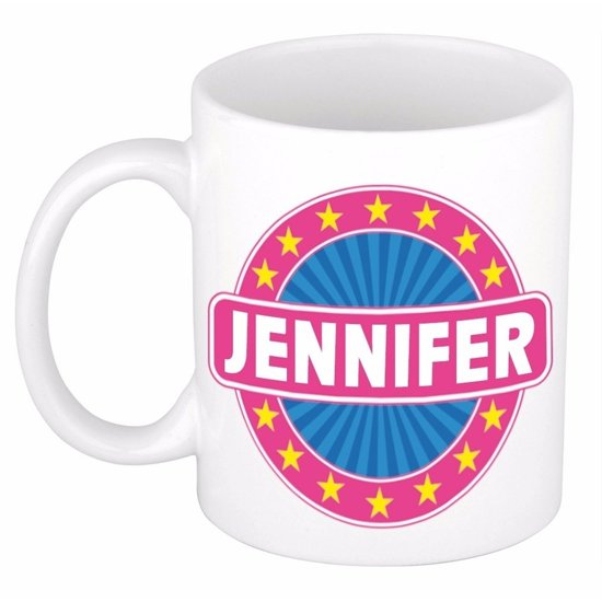 Jennifer naam koffie mok / beker 300 ml  - namen mokken