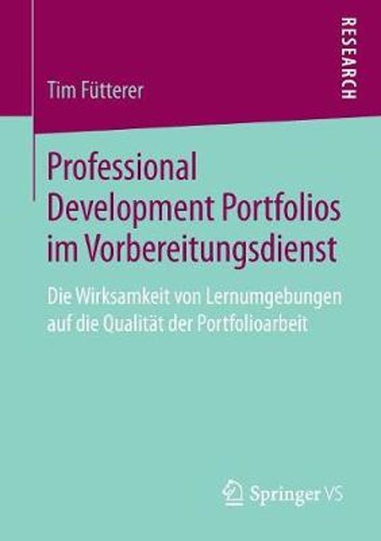 Professional Development Portfolios Im Vorbereitungsdienst