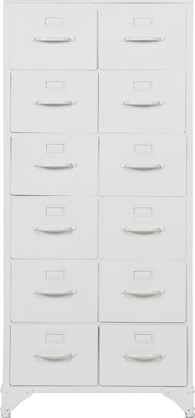 vtwonen Stock Ladekast - Metaal - Wit - 110x50x39