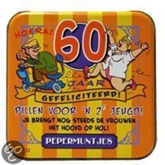 Fabulous bol.com   Pepermunt Blikje - 60 jaar man (incl. 70 gram pepermunt @YE31