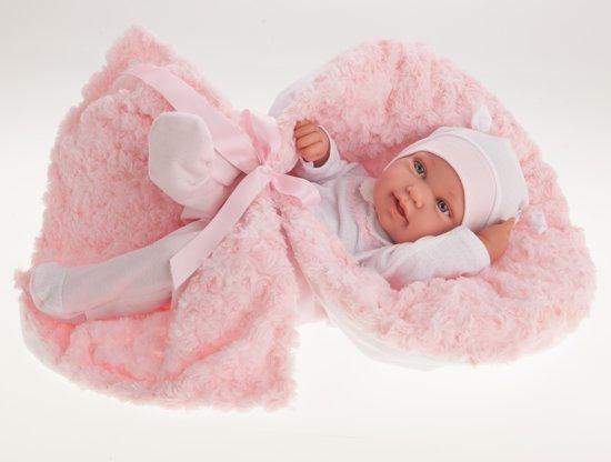 Antonio Juan babypop fullbody meisje 42 cm met deken en speen