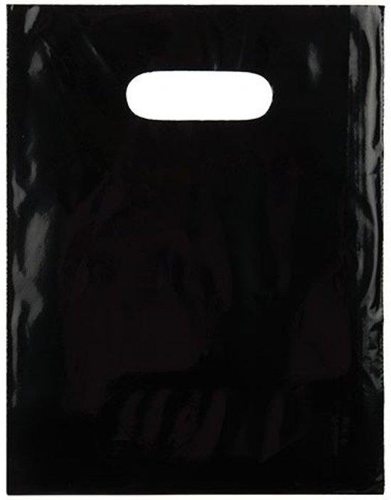 Draagtassen Plastic Zwart 30,5x38,1cm PE 60 Micron (100 stuks)