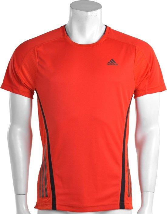fc833d2466f adidas SuperNova Short Sleeve Top - Sportshirt - Heren - Maat S - Rood;Zwart