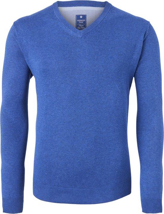 hals Heren KatoenV blauw Trui Redmond Jeans bfgy76Y