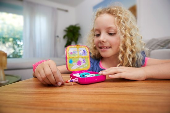 Polly Pocket Hidden Hideouts Lila's Droomkasteel - Speelfigurenset