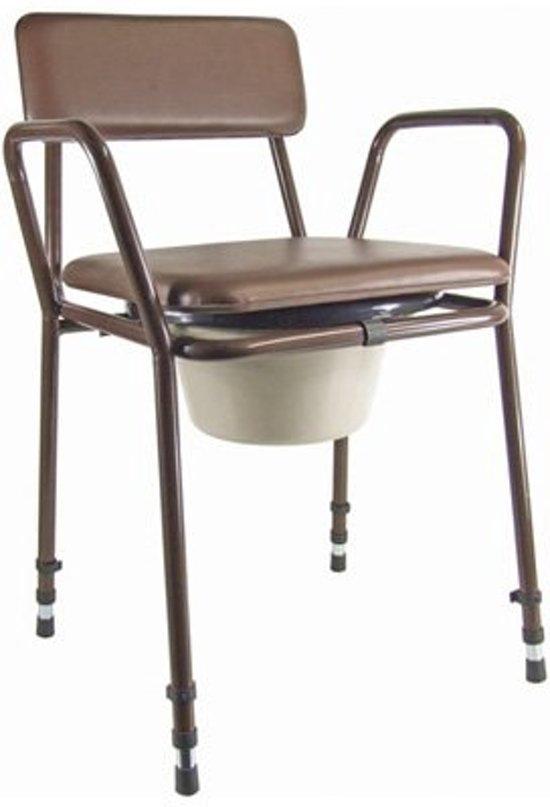 Aidapt toiletstoel postoel verstelbaar bruin for Stoel bobois stoel