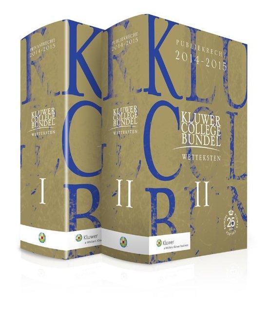 Boek cover Kluwer Collegebundel 2014/2015 van Henk Kummeling (Paperback)