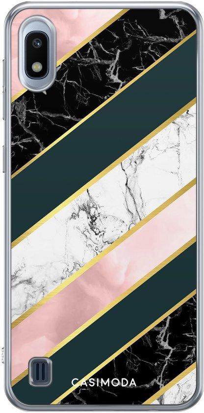 Samsung Galaxy A10 siliconen hoesje - Marble stripes