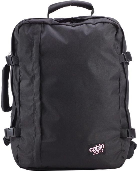 Cabinzero Classic 44L - handbagage rugzak - 55x40x20 cm - Absolute Black