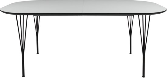 Wit Tafelblad Met Zwarte Poten.Bol Com 24designs Uitschuifbare Tafel Weston L180 380 Cm