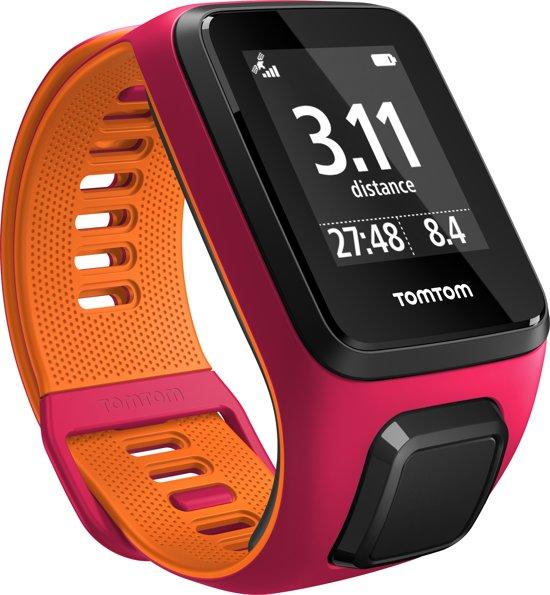TomTom Runner 3 - Sporthorloge - GPS - Small - Roze/Oranje