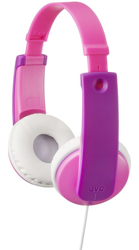 JVC HA-KD7PE - On-ear kids koptelefoon - Roze