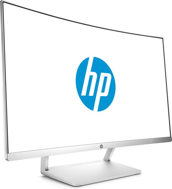 HP 27 Curved Display 27'' Full HD LED Zilver, Wit computer monitor