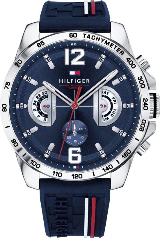 Tommy Hilfiger TH1791476 Horloge - Silliconen - Blauw - 46 mm
