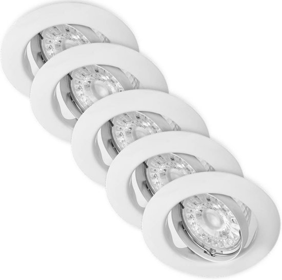 LED Inbouwspots Murillo 5 Pack 4.7W - Wit